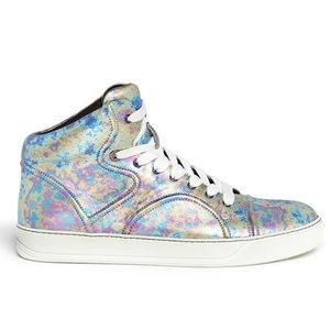 Lanvin Iridescent/ Pearlized Slip On / Sneakers